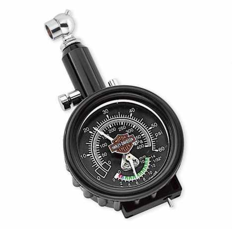 Harley-Davidson Kompakt-Reifendruck- und Profiltiefenmesser  - 75008-02A
