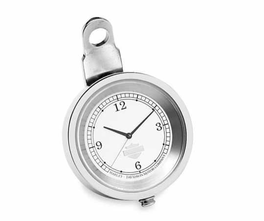"Handlebar Clock 1,5"" silver & chrome"
