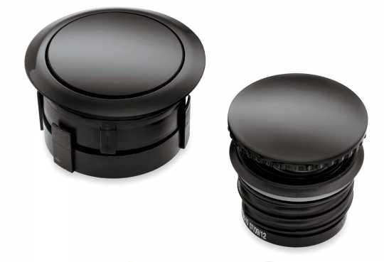 Harley-Davidson Flush mount Fuel Cap & Gauge Kit gloss black  - 75327-09C