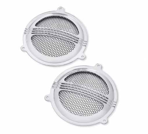 Defiance Batwing Fairing Speaker Grills chrome