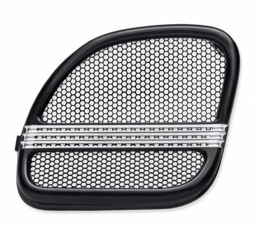 Harley-Davidson Defiance Fairing Lautsprecher-Verzierung schwarz cut  - 76000693