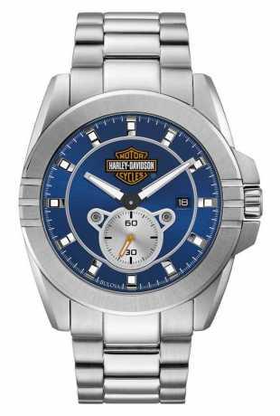 Bulova Harley-Davidson Watch blue Bar & Shield  - 76B183