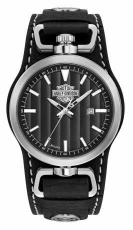 Bulova Harley-Davidson Uhr Bar & Shield Rotating Case  - 76B185