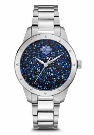 Bulova Harley-Davidson Watch Swarovski Crystals  - 76L188
