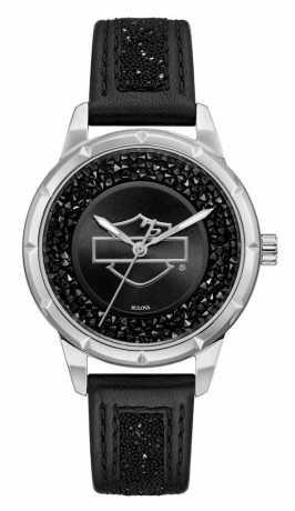 Bulova Harley-Davidson Watch Open Bar & Shield Crystal  - 76L192