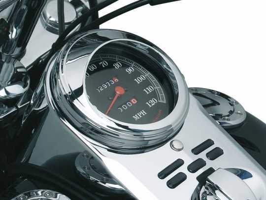 Küryakyn Kuryakyn Speedometer Trim Ring with Visor  - 77-112