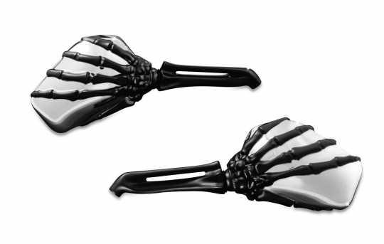 Küryakyn Küryakyn Skeleton Hand Mirrors, Chrome Head / Black Stem  - 77-1764