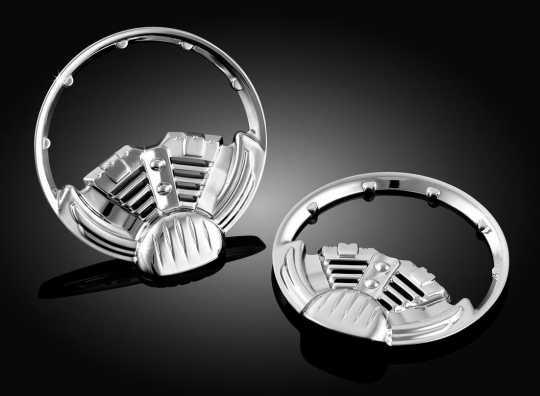 Küryakyn Küryakyn Twin Ring 2 Inch Gauge Bezel  - 77-3785