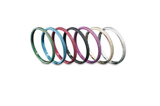 Küryakyn Küryakyn ISO Akzent Ringe, gerändeltes Chrom  - 77-6220
