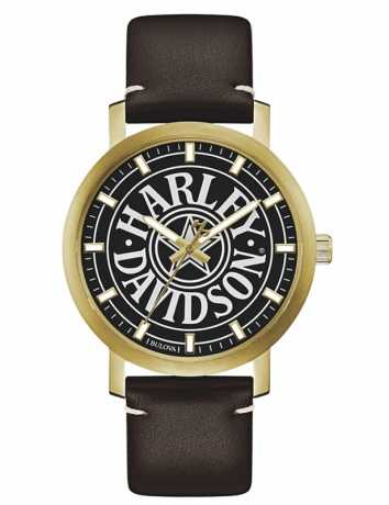 Bulova Harley-Davidson Watch Iconic Fat Boy  - 77A100