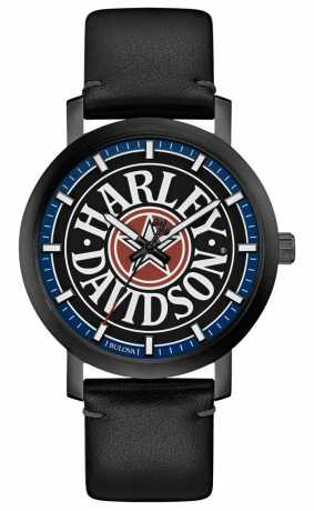 Bulova Harley-Davidson Watch Iconic Fat Boy black  - 78A120
