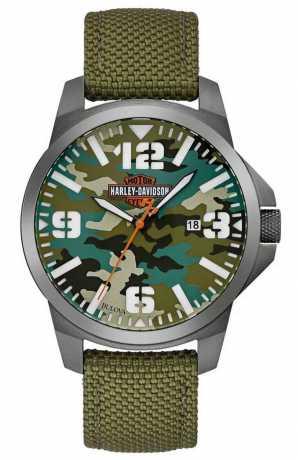 Bulova Harley-Davidson Watch Bar & Shield Camouflage  - 78B157