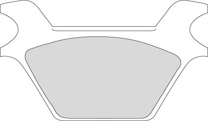 "Motor Factory Motor Factory Bremsbeläge ""Organic"" hinten  - 80-09004"