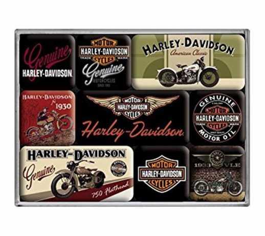 H-D Motorclothes Harley-Davidson Magnet Set (9)  - 83037