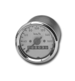 MMB MMB 48mm Tacho 2:1 km/h, weiß & chrom  - 84-820
