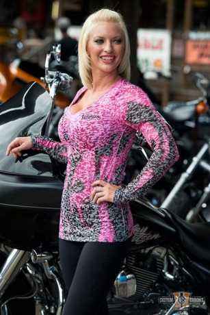 Easyriders Roadware Easyriders Damen Longsleeve Inferno Burn Out Pink L - 88-8615