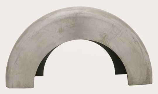 """Custom Chrome Custom Blank Steel Fender 8.5"""" x 13 3/8"""" Radius  - 88-173"""