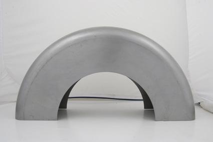 """Custom Chrome Custom Blank Steel Fender 8.5"""" x 15.75"""" Radius  - 88-180"""