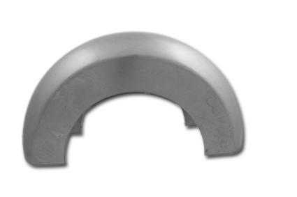 """Custom Chrome Custom Blank Steel Fender 11"""" x 15.75"""" Radius  - 88-183"""