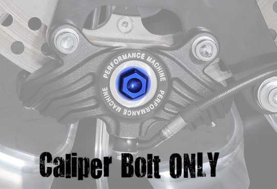 Performance Machine PM Vintage Caliper Bolt Blue  - 88-8463