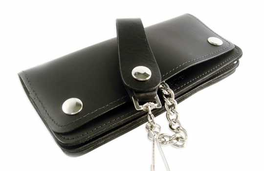 Amigaz Amigaz Black Leather Biker Chain Wallet Extra Long  - 88-9498
