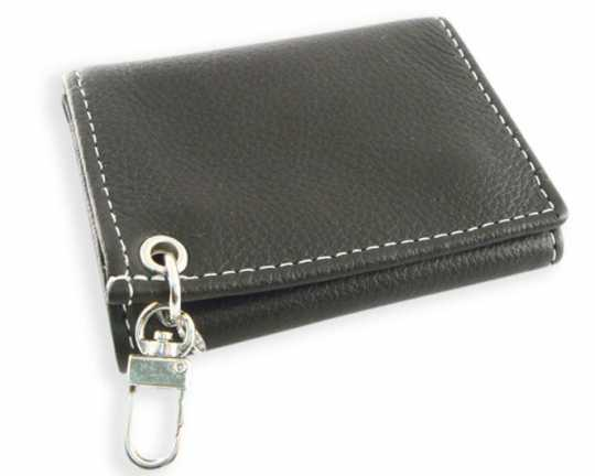 Amigaz Amigaz Black Piped Soft Leather Trifold Wallet  - 88-9501