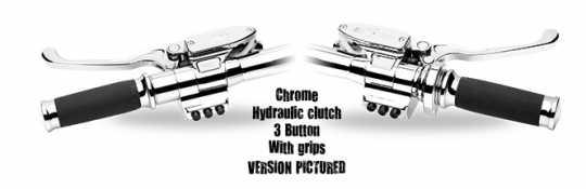 "Performance Machine PM 9/16"" Hand Control Set, Switch Housing, Contrast Cut  - 88-9577"
