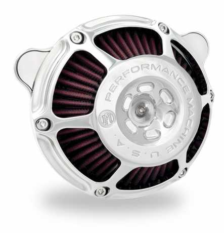 Performance Machine PM Max HP Luftfilter, chrom  - 88-9608
