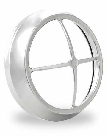 Performance Machine PM Fl Cross Bar Headlight Bezel, Vision Series, Chrome  - 88-9626