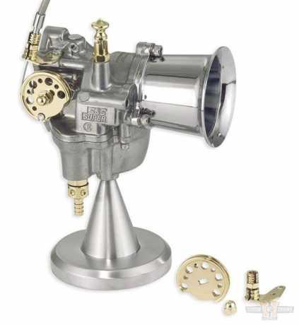 Kustom Tech Kustom Tech Single Gaszugkit, messing poliert  - 89-0484