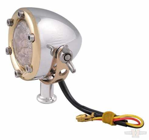 Chopper Kulture Chopper Kulture Tail Light polished & brass  - 89-2154