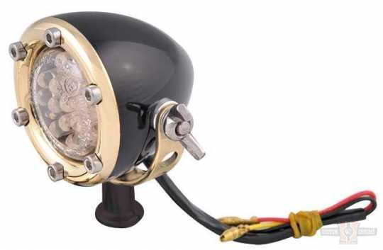 Chopper Kulture Chopper Kulture Tail Light black & brass  - 89-2156