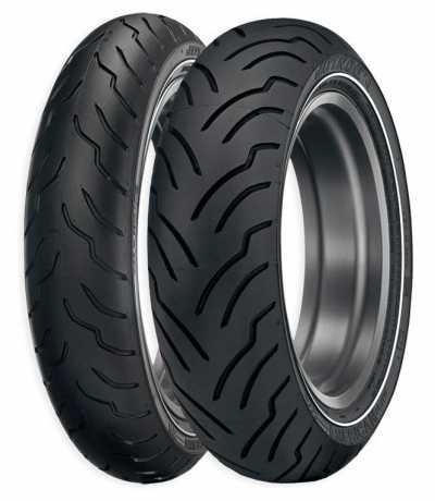 Dunlop Dunlop Front Tire  American Elite MT90 B 16 M/C 72 H TL Narrow White Wall  - 89-2250