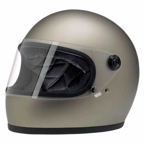 Biltwell Biltwell Gringo S Helm Flat Titanium DOT  - 89-2366V