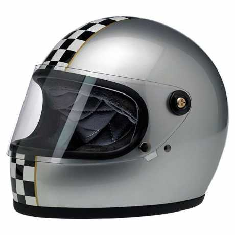 Biltwell Gringo S LE Checker, metallic silver DOT