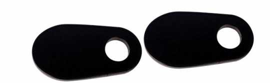 Cult-Werk Turn Signal Brackets, Rear, Black