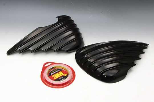 Easyriders Japan Easyriders Side Cover Garnish, Bat Wing, Fiber Glass, Black  - 89-3835