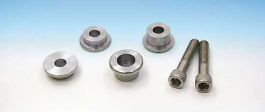 Easyriders Japan Easyriders Bolt Kit, Solid Mount Riser Bushing Set, Stainless Steel  - 89-3848