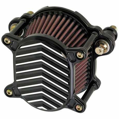 Joker Machine Joker Machine Luftfilter Omega, V Fin schwarz/silber  - 89-3931