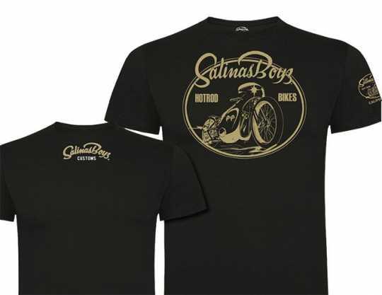 Salinas Boys Salinas Boys Moon Rocket Moon Eyes Bike T-Shirt, Black  - 89-4315V