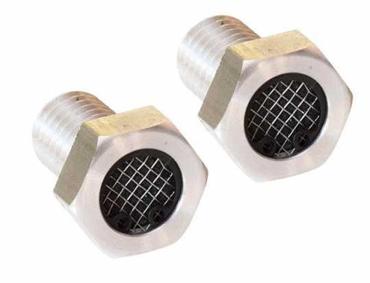 """Flywheel Design Flywheel Design Cylinder Head Breather Screen Bolt 3/8""""-16 UNC alu raw  - 89-4418"""