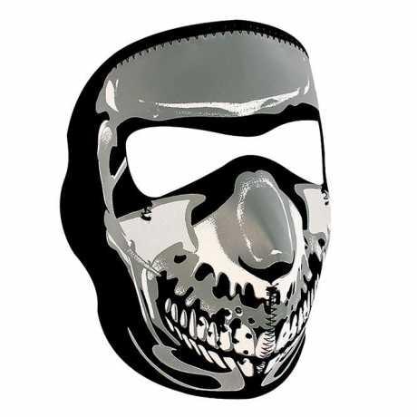 ZANheadgear ZANheadgear Full Face Gesichtsmaske Chrome Skull  - 89-4451