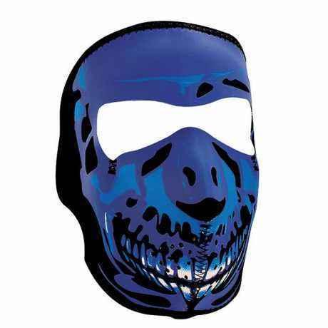 ZANheadgear ZANheadgear Full Mask Blue Chrome Skull  - 89-4452