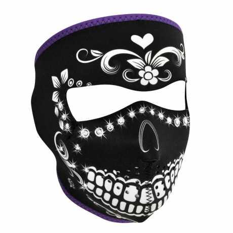 ZANheadgear ZANheadgear Full Face Gesichtsmaske Muerte Reversible To Teal  - 89-4456