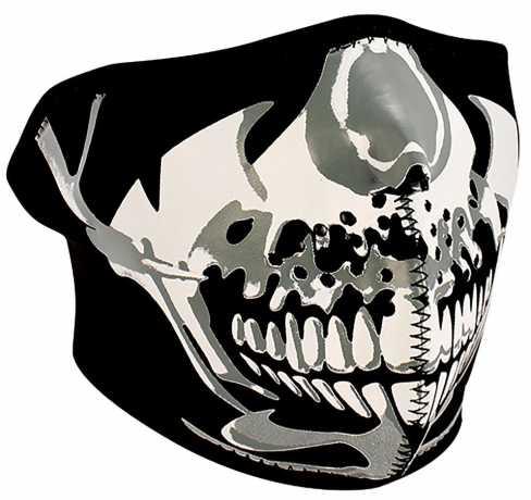 ZANheadgear ZANheadgear halbe Gesichtsmaske Chrome Skull  - 89-4461