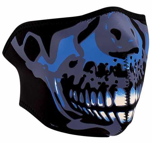 ZANheadgear ZANheadgear halbe Gesichtsmaske Blue Chrome Skull  - 89-4462