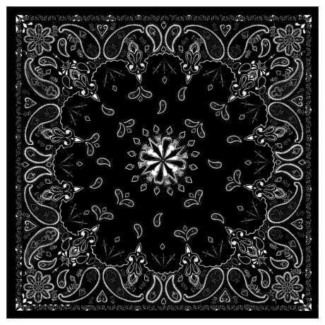ZANheadgear ZANheadgear Bandanna Black Paisley  - 89-4489