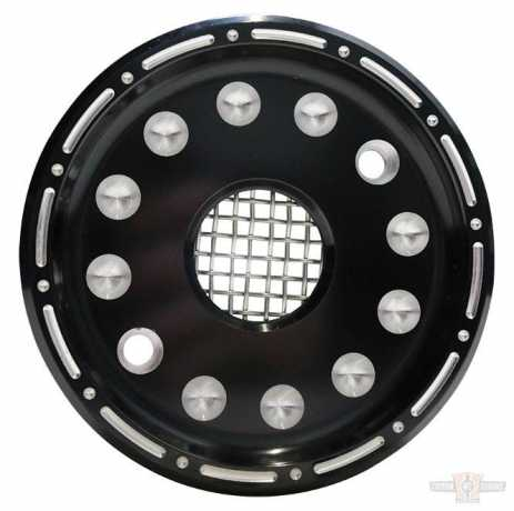 Custom Chrome Outlaw Black/Raw Machined Sprocket Cover Kit  - 89-4884