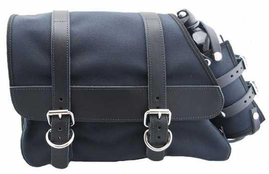 LaRosa LaRosa Canvas Left Side Saddle Bag with Fuel Bottle black  - 89-5030
