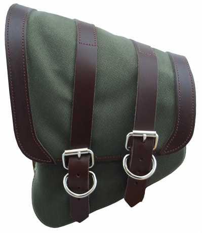 LaRosa LaRosa Canvas Left Side Saddle Bag green  - 89-5033